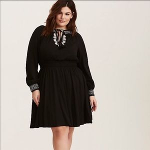 Torrid Smock Neck Skater Dress- size 0, NWT